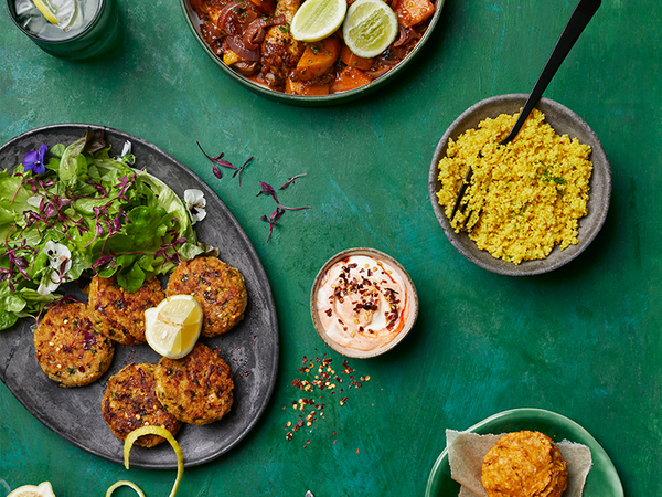 Curried Millet and Smoked Snoek Fishcakes