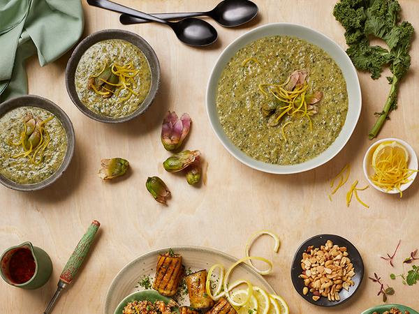 Baby Marrow, Kale and Waterblommetjie Soup