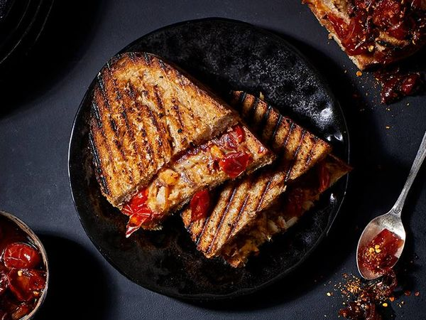 Smoked Snoek And Spicy Tomato Jam Braaibroodjie
