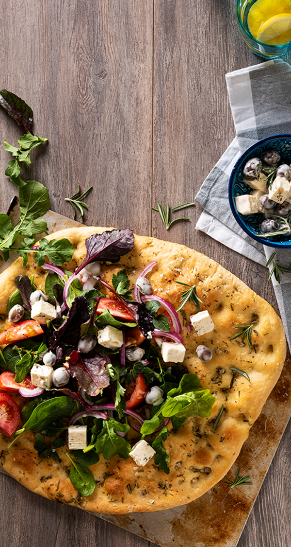Herby Focaccia With Olives And Feta