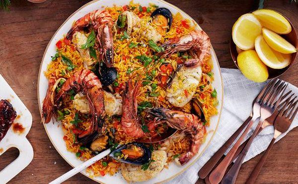 Festive Seafood Paella