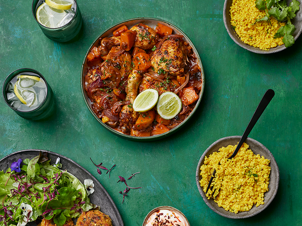Fragrant Chicken, Pumpkin And Apricot Couscous