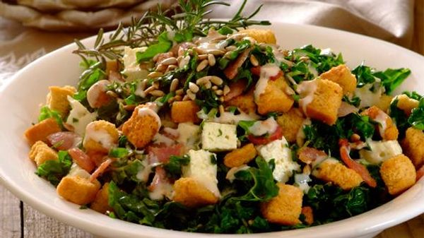 Spinach, Bacon and Feta Salad