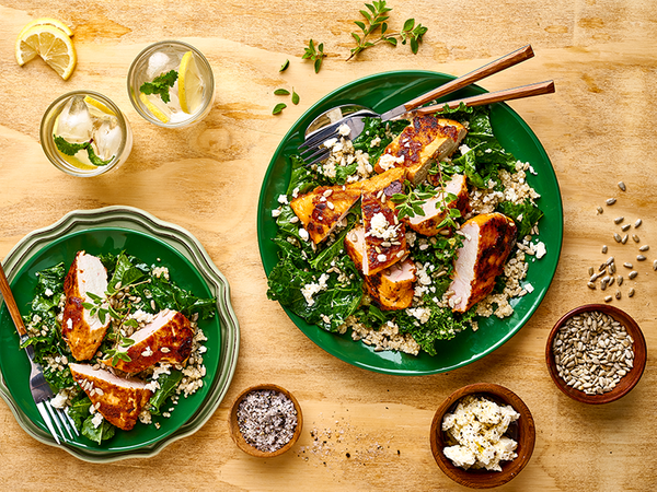 Zesty Chicken, Quinoa and Kale Salad