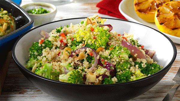 Quinoa, Broccoli and Almond Salad
