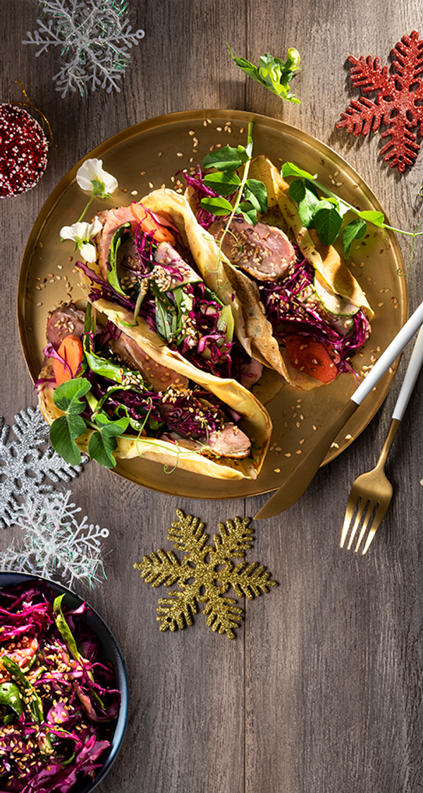 Asian-style Duck Pancakes With Crunchy Coleslaw