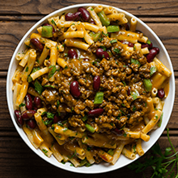 Curried Mince and Bean Pasta