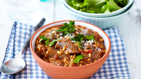 Tomato, Beer and Boerewors Risotto Recipe