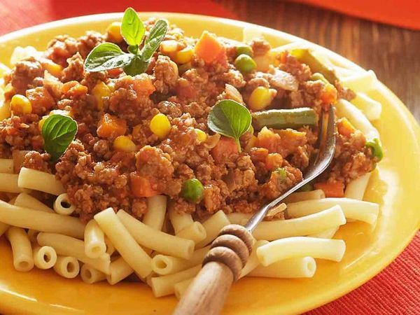 Easy Mince & Vegetable Pasta
