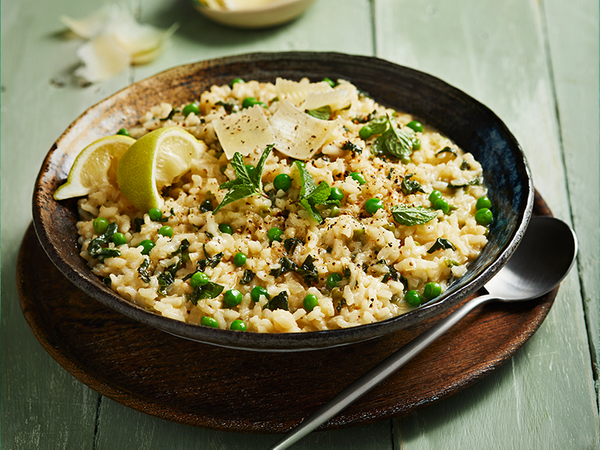 Pea and Spinach Risotto