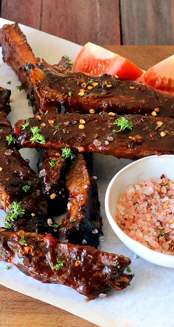 Sweet and Sticky Glazed Pork Ribs