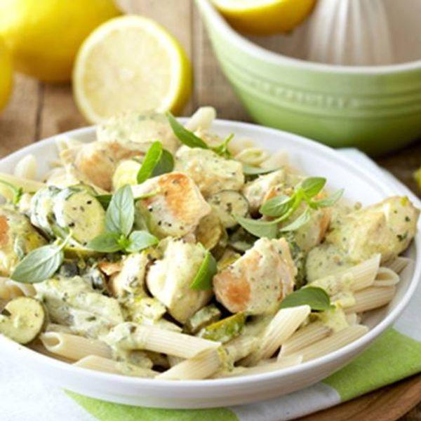 Basil, Lemon and Garlic Chicken Pasta