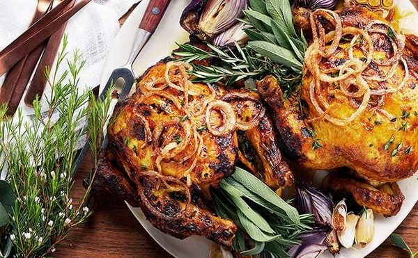 Spicy Maas Marinated Roast Chicken