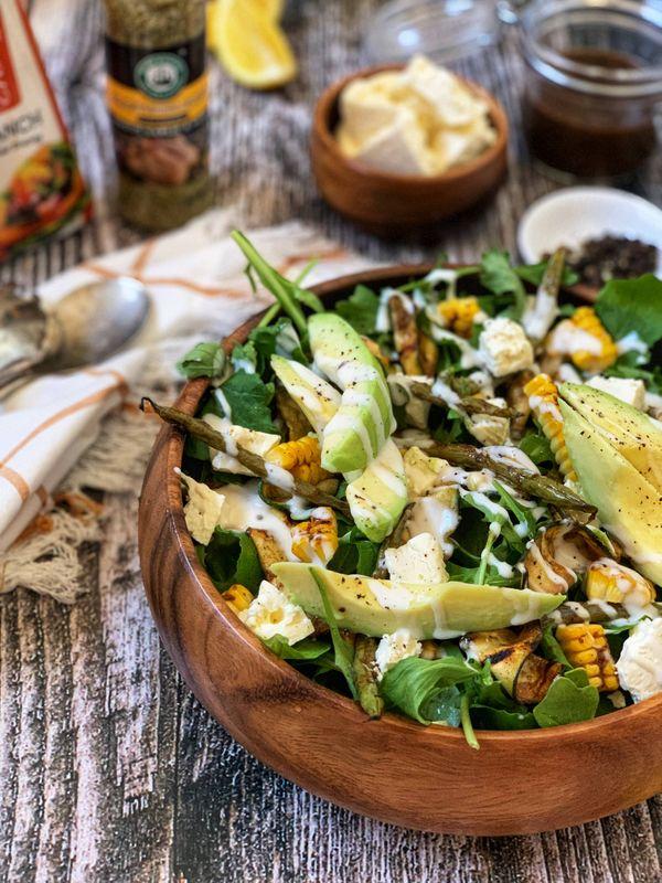 Grilled Zucchini and Corn Salad by Natasha Maseko