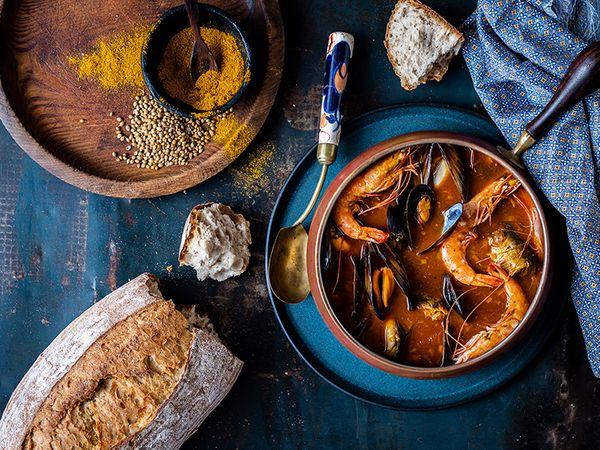 Seafood Curry Pot