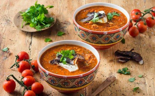 Creamy Chakalaka Soup with Biltong
