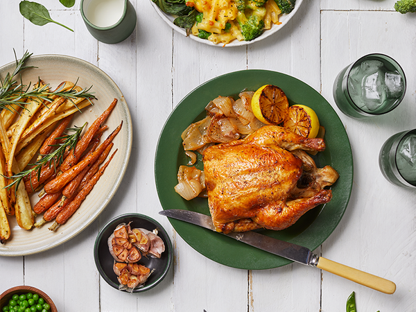 Sunday Roast Chicken With Carrots and Parsnips