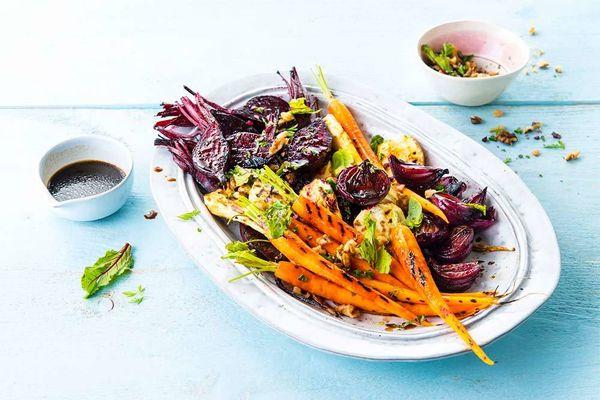 Honey Roasted Root Vegetable Salad