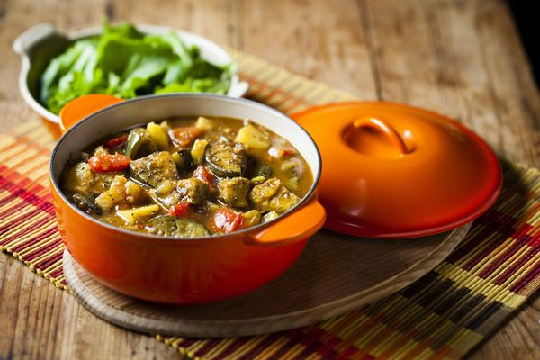 Brinjal and Potato Stew