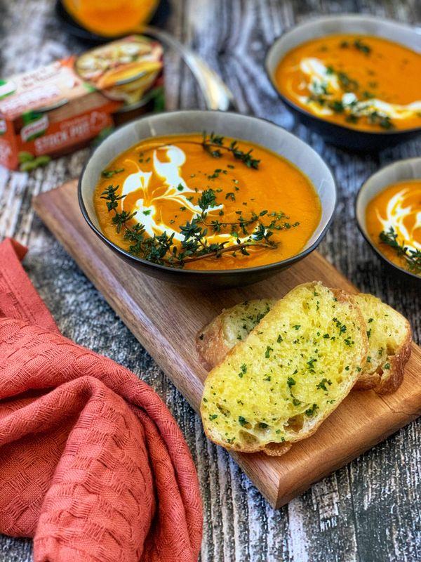 Roasted Red Pepper and Butternut Soup by Natasha Maseko