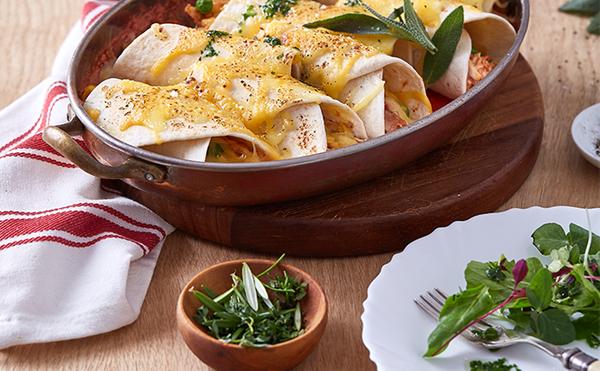 Cheesy Baked Tortilla Roll-Ups
