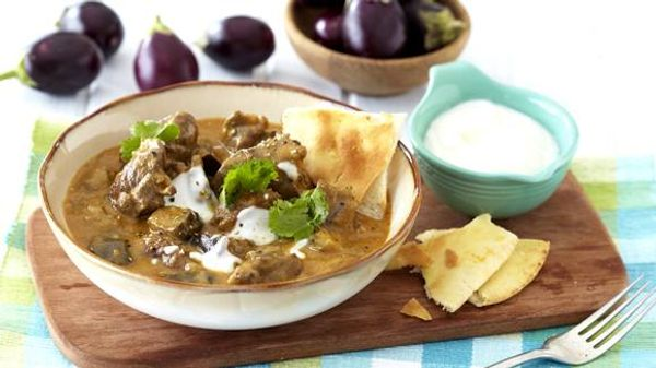 Aromatic Lamb, Brinjal and Coconut Curry