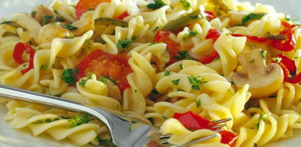 Pasta salad with roasted vegetables