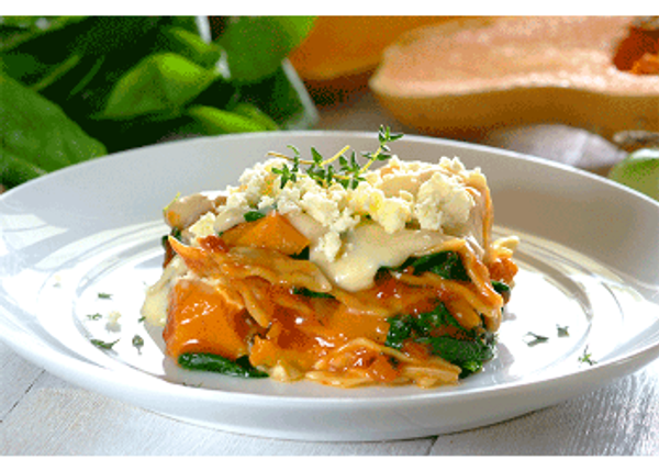Spinach, Butternut and Feta Lasagne