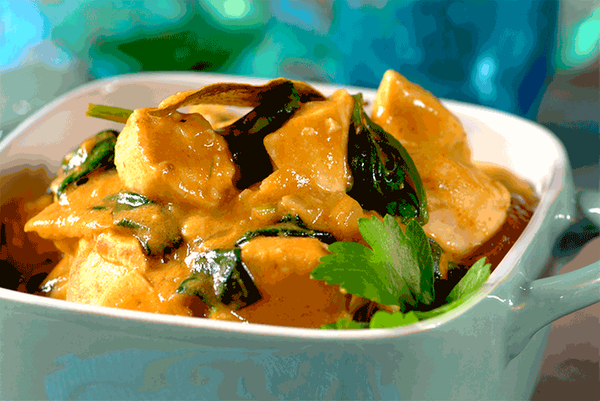 Chicken and Spinach Hotpot