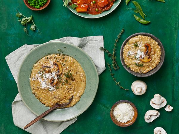 Creamy Mushroom and Pearl Barley Risotto