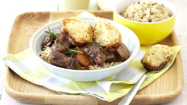 Delicious Lamb Casserole with Mustard Dumplings