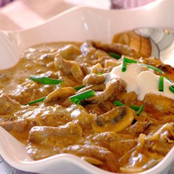 Traditional Beef Stroganoff