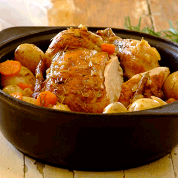 Classic pot roast chicken