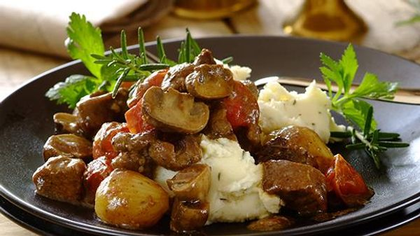 Lamb Casserole with a Hint of Rosemary