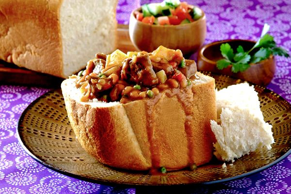 Beef and Vegetable Bunny Chow