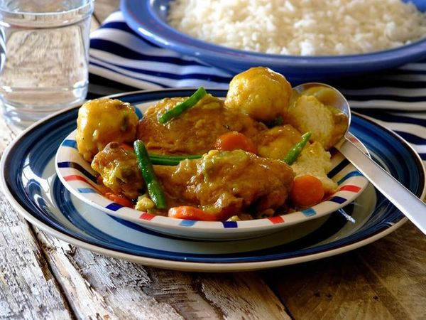 Spicy Chicken Stew with Dumplings