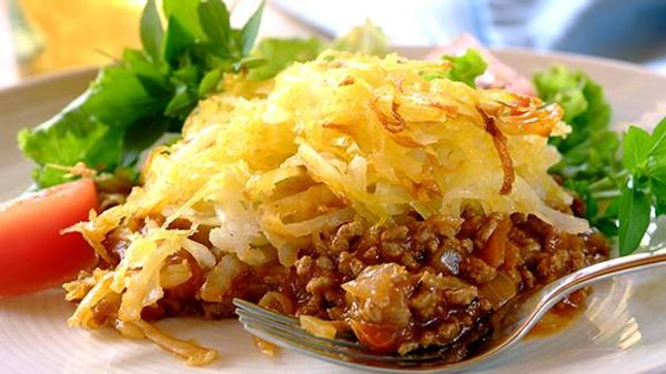 Cottage Pie with a Potato Rosti Topping