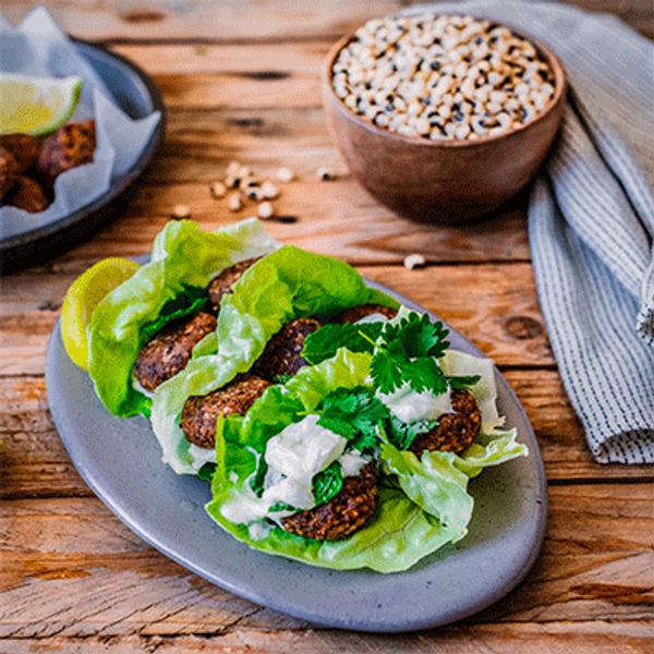 Millet and Cowpea Falafel Lettuce Wraps