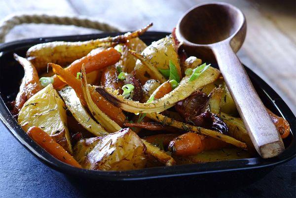 Honey Roasted Root Vegetables