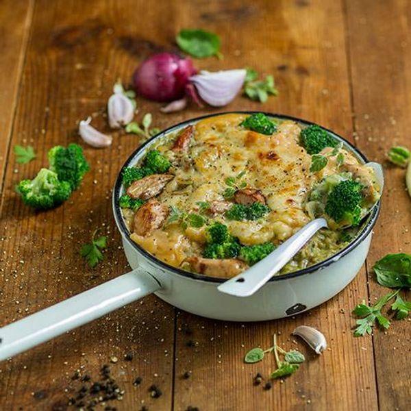 Broccoli and Basil Pesto Chicken Lasagne