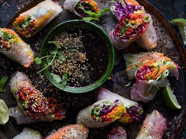 Crunchy Vegetable Rice Paper Rolls