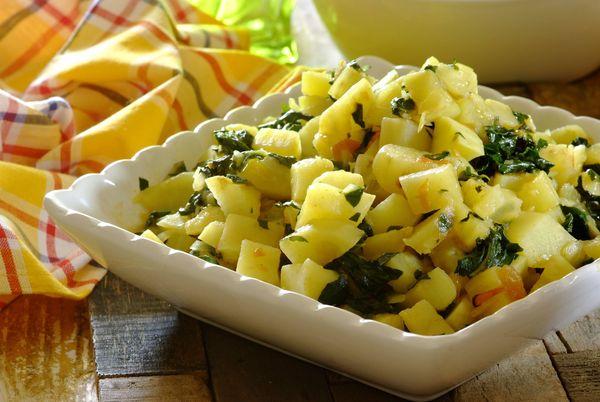 Sweet Potato and Spinach Sishebo