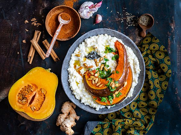 Masala-Roasted Pumpkin with Creamy Samp