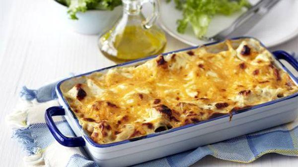 Creamy Chicken and  Mushroom Lasagne