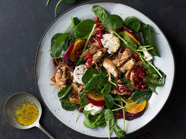 Barbeque Maple Chicken and Beetroot Salad