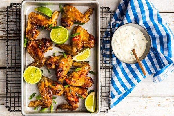 Spicy Honey & Mustard Chicken Wings