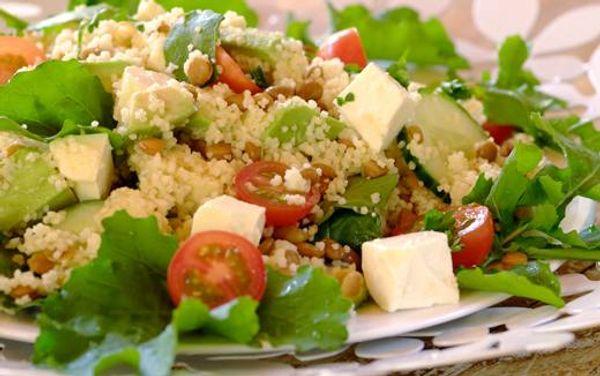 Summer Avo, Feta and Couscous Salad