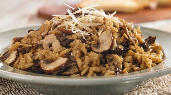 Receta fácil y riquísima de risotto de hongos