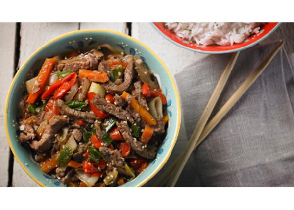Carne al horno estilo thai