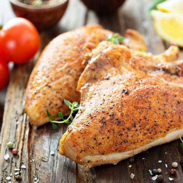 Pollo con ajo y pimienta